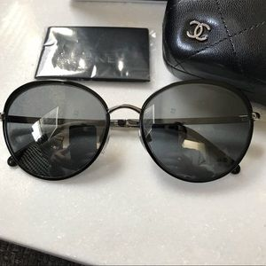 CHANEL Accessories - Chanel round metal frame sunglasses